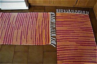 Úžitkový textil - Tkané koberce oranžovo-červené  - 10375375_