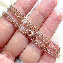 Náhrdelníky - Stainless Steel Chain Rose Gold / Retiazka 45cm z chirurgickej ocele v prevedení ružové zlato /1493 (47 cm) - 10381081_
