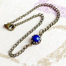 Náramky - Bronze Vintage Lapis Lazuli Bracelet / Vintage náramok s lazuritom v bronzovom prevedení /1494 - 10381139_