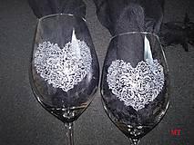 Nádoby - Svadobné poháre - 10381632_