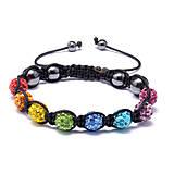Náramky - shamballa náramok farebný - 10378850_