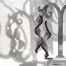 Náušnice - Tobogány - náušnice (černo-šedé) - 10380211_