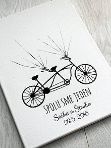 Obrázky - Svadobný obraz bicykel - 10382047_