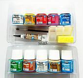 Farby na textil, Setacolor opaque, Pébéo, kufrík 10x45 ml