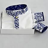 Oblečenie - Modré kvety - 10380985_