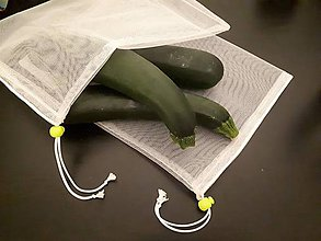 Nákupné tašky - Tylové vrecúško na nákup ovocia alebo zeleniny - 10378619_