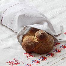 Úžitkový textil - Ľanové vrecko na chlieb / pečivo - 10381397_