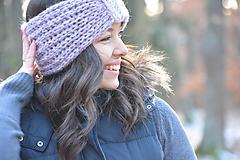 Ozdoby do vlasov - lila - 10381979_