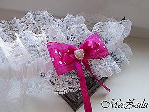 Bielizeň/Plavky - nežný svadobný podväzok XII. - 10379665_