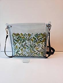 Kabelky - Dámska kabelka priehľadná + kabelka na doklady, mobil, peniaze - 10379604_