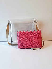 Kabelky - Dámska kabelka priehľadná + kabelka na doklady, mobil, peniaze - 10379710_