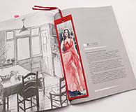 Papiernictvo - Maľovaná záložka - Červená je sexi 1 - 10381279_