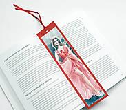 Papiernictvo - Maľovaná záložka - Červená je sexi 1 - 10381281_