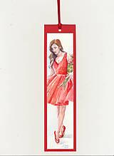 Papiernictvo - Maľovaná záložka - Červená je sexi 2 - 10381303_