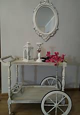Nábytok - Vintage servírovací vozík  - 10381976_