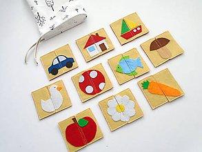 Hračky - Montessori pexeso: detský svet (10 párov) - 10379025_