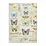 Papier - Ryžový papier Stamperia-motýle - 10382022_