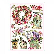 Papier - Ryžový papier Stamperia A4- ROSE GARDEN - 10380311_
