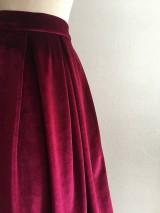 Sukne - zamatová sukňa bordová - 10380742_