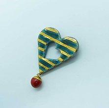 Odznaky/Brošne - Tana šperky - keramika/zlato - 10378962_