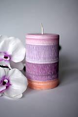 Dúhová sviečka z palmového vosku Ø70