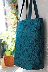 Veľké tašky - Čipkovaná taška - 10382065_