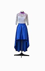 Šaty - Spoločenské šaty s vreckami s asymetrickou dĺžkou - 10379564_