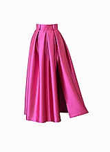 Sukne - Spoločenská sukňa s rozparkom a vreckami - 10380753_