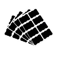 Papier - nálepky čierne blackboard - 10380429_