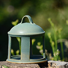 Pre zvieratká - Krmítko pro ptáčky nebo lucerna - Z mechu a kapradí - 10378935_