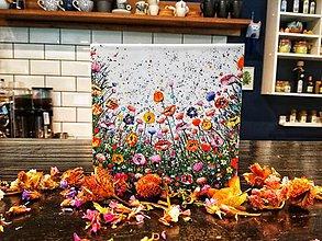 Papiernictvo - Leporelo 13x13 ,,Lúka plná kvetov,, - 10379419_