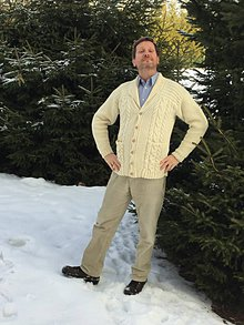Oblečenie - Pánsky sveter s golierom - 10380704_
