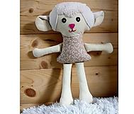 Hračky - Nádherná mojkacia hračka Ovečka OVKA a Baranček BARY (Béžová ovečka bez sukienky) - 10380492_