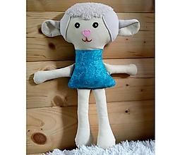Hračky - Nádherná mojkacia hračka Ovečka a Baranček (Tyrkysová ovečka bez sukienky) - 10380510_
