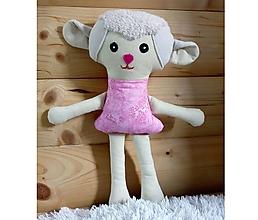 Hračky - Nádherná mojkacia hračka Ovečka OVKA a Baranček BARY (Ružová ovečka bez sukienky) - 10380527_