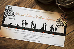 Papiernictvo - Svadobné oznámenie - Príbeh lásky oranžová (Svadobné oznámenie) - 10378867_