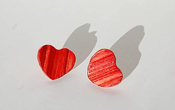 Náušnice - Drevené náušnice My Valentine - 10379984_