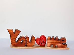 Dekorácie - Predané Dekorácia z dreva You and Me - 10380534_