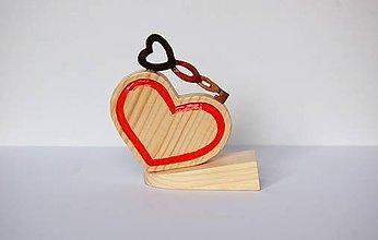 Dekorácie - Dekorácia z dreva - Kľúč k tvojmu srdcu - 10380558_
