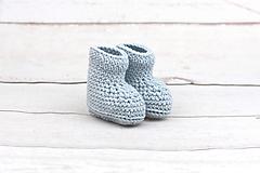 Topánočky - Bledomodré papučky zimné EXTRA FINE - 10379891_