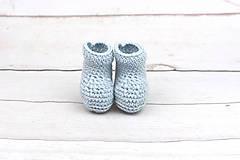 Topánočky - Bledomodré papučky zimné EXTRA FINE - 10379892_
