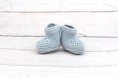 Topánočky - Bledomodré papučky zimné EXTRA FINE - 10379895_