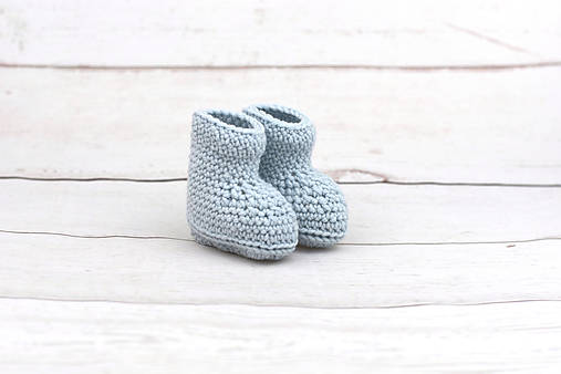 Bledomodré papučky zimné EXTRA FINE