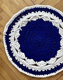 Úžitkový textil - Koberček - kráľovská modrá - 10380351_