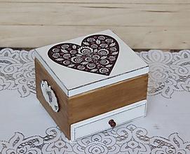 Krabičky - masívna šperkovnica - 10378966_