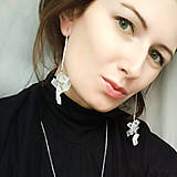 Náušnice - pure// crystals // earrings - 10379045_