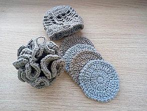 Úžitkový textil - Háčkovaná špongia (Modrá) - 10379336_