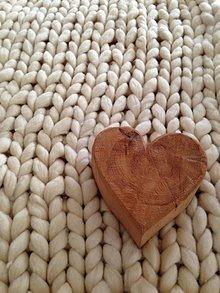 Úžitkový textil - Obria chunky deka - merino vlna - 10381487_