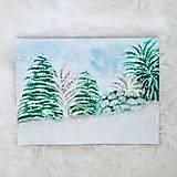 Obrazy - Obraz Zasnežený les - 10380231_