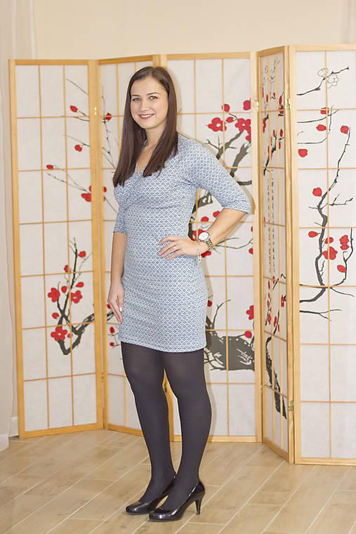 95e644bba Žakárovové úpletové šaty S/M / Lef - SAShE.sk - Handmade Šaty